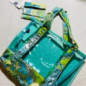 Summer Tote with Matching Wallet New